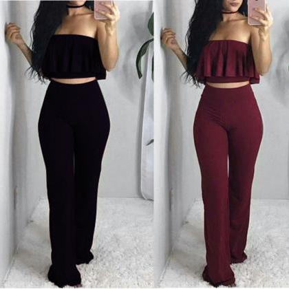 Women'S Sexy Sleeveless Two-Piece J..