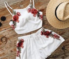 Fashion White Embroi..