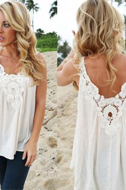 Women Vest Top Sleeveless Blouse Casual Tank Tops T-Shirt