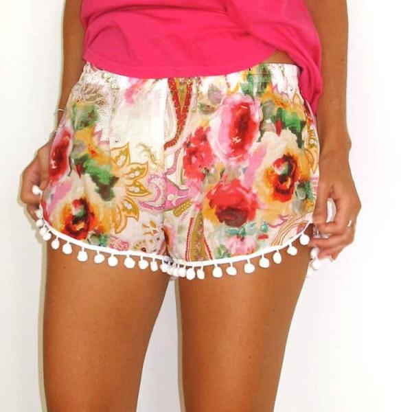 Fashion lovely printing shorts GR8312JJ