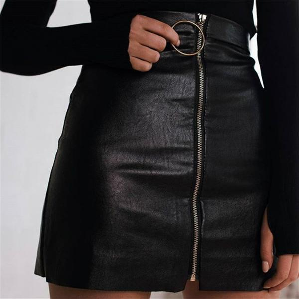 Solid Color Zipper Skirts 4103